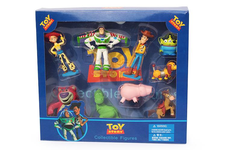 EMS 50sets 9pcs/set New Toy Story Buzz lightyear Woody Jessie Figures Toys with box<br><br>Aliexpress