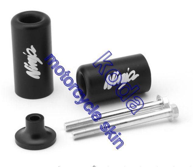Рама ползунки черный резина бампер для 2003 - 2004 Kawasaki ZX6R ZX6RR