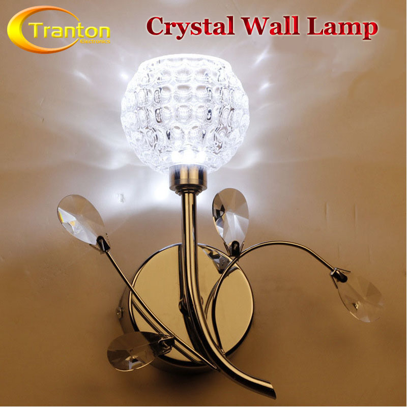 220V crystal  LED Light wall Lamp Warm White/Cool White Bedside Lamps<br><br>Aliexpress