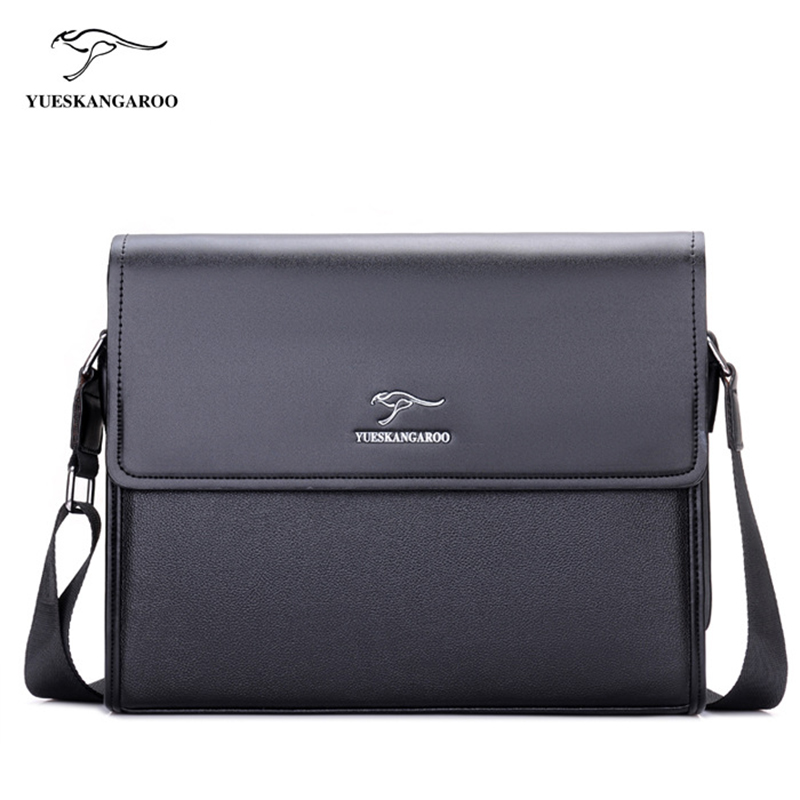 YUESKANGAROO Brand Men's Bags Briefcase casual men messenger bag A4 document leather male shoulder bag(China (Mainland))
