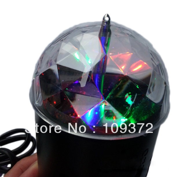 Free Shipping LED RGB Crystal Magic Ball Effect Stage Light Disco DJ Laser Lighting Show for Sale<br><br>Aliexpress