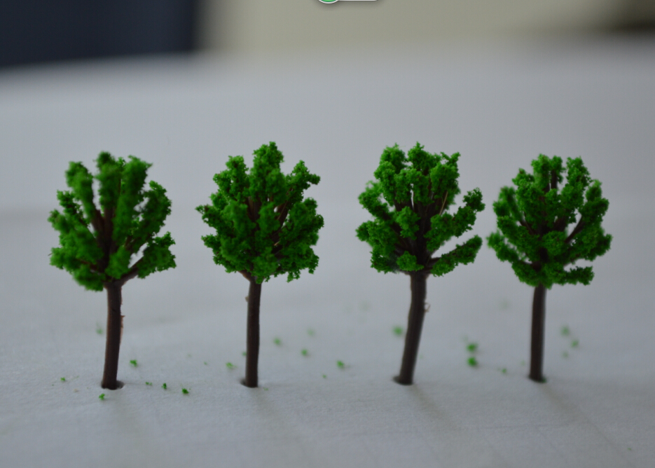 Free Shipping 100pcs 20mm  quite mini scale model green color trees for model train railway layout<br><br>Aliexpress