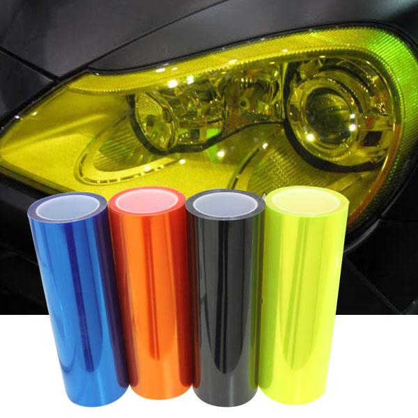 "12 Colors 12""X40"" 30CMX100CM Auto Car Light Headlight Taillight Tint styling waterproof Vinyl Film Sticker Free shipping(China (Mainland))"