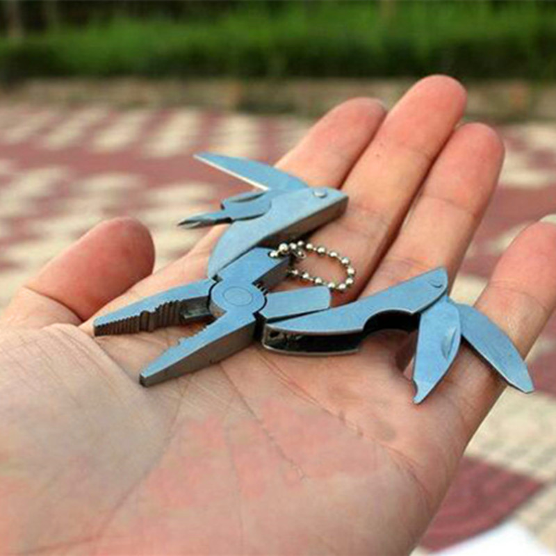 Pocket Multi Function Combination Pliers,Portable Keychain Folding Knife Screwdriver Plier,Mini Outdoor Camping Hand tools(China (Mainland))