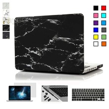 Marble Matte Case for Macbook Air Pro Retina 11 12 13 15 inch Laptop Bag for Mac Book 13.3 inch Keyboard Cover+screen Protector(China (Mainland))
