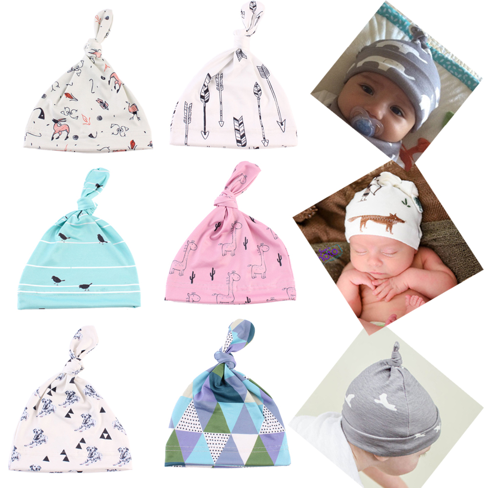 2016 Fashion Newborn Infant Toddler Baby Soft Crochet Knit Hospital Hat Hipster Beanie Cap New Hot Sale(China (Mainland))