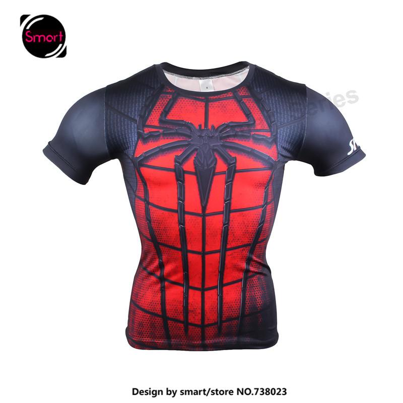 2016 mens superhero spiderman batman superman marvel t shirt men compression tee costume tshirt. Black Bedroom Furniture Sets. Home Design Ideas