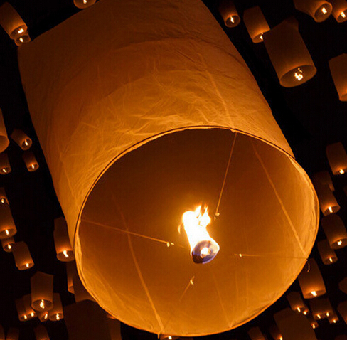 Free shipping crylindrical line Chineses Lantern Sky Lanterns Kongming Lantern Flying Wishing Lamp Wedding Party Paper Lights(China (Mainland))