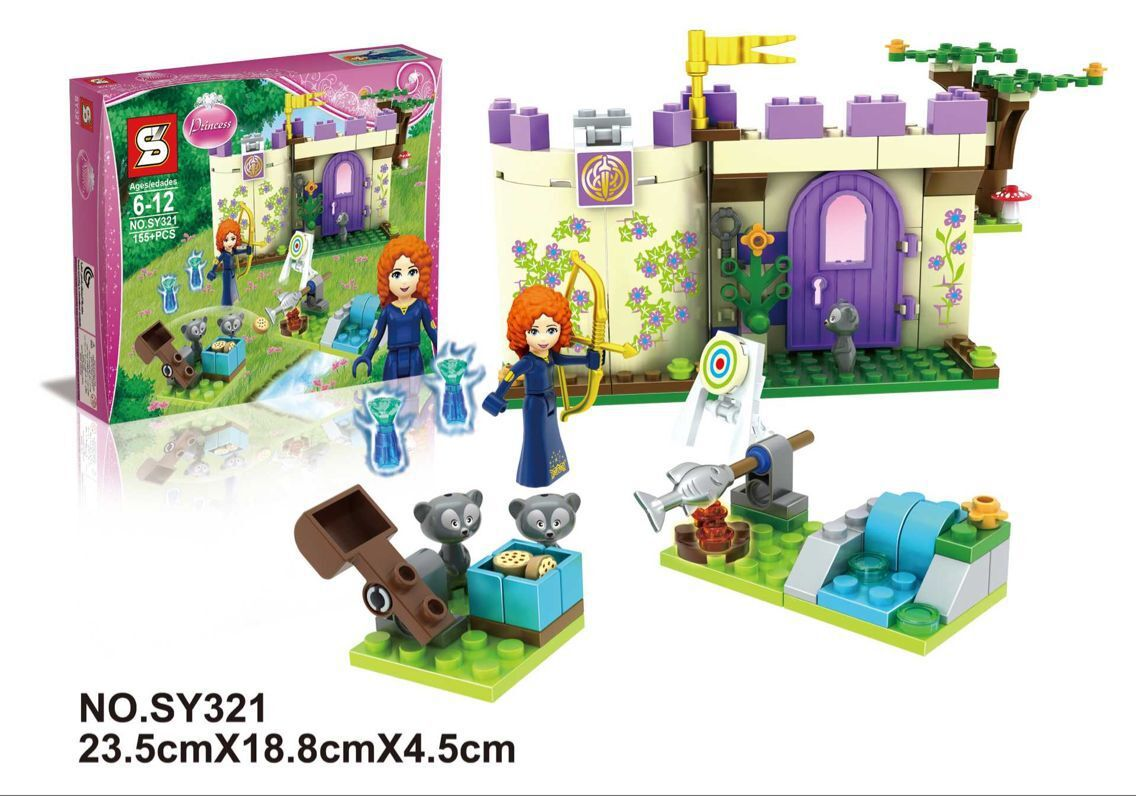 SY321 Building Block Princess Merida's Highland Games Friend Minifigures Girls Toys For Children Compatible With Legoe 41051(China (Mainland))