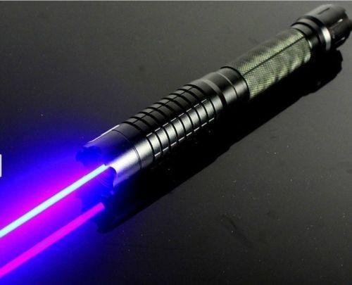 450nm High Powerful Blue Laser Beam Pointer Pen 50000mW Burning Match Lazer Flashlight Torch 5W 5 stars caps