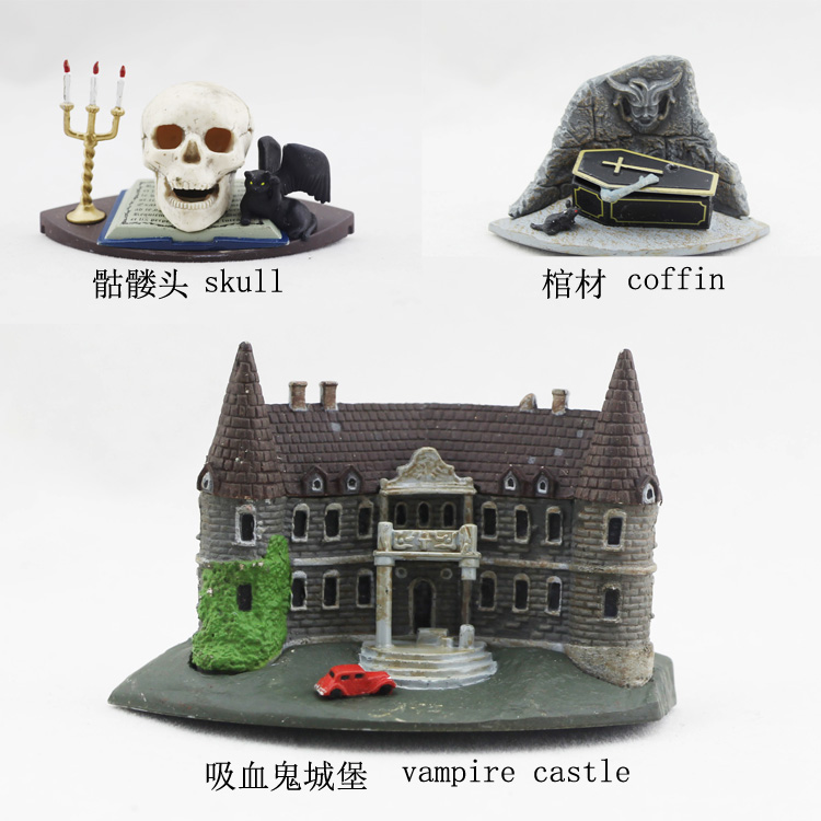 Brand New Move Action Figure Toys The Vampire Diaries Skull/Coffin/Vampire Castle PVC Figure Model Toy For Collection/Gift