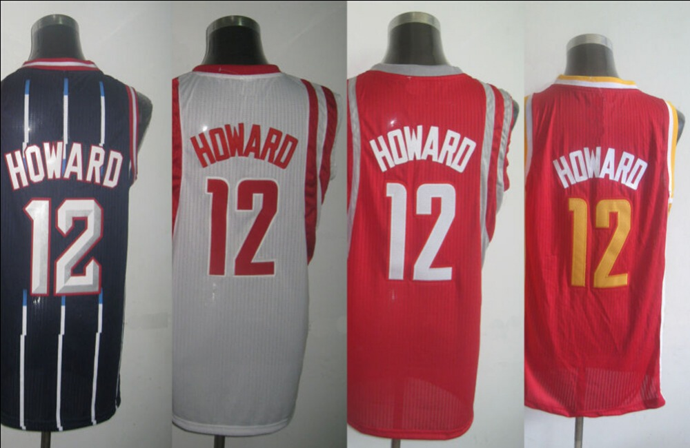 Houston #12 Dwight Howard Jersey Authentic Basketball Jersey Top Quality Embroidered Stitched Logo Sports Jerseys(China (Mainland))