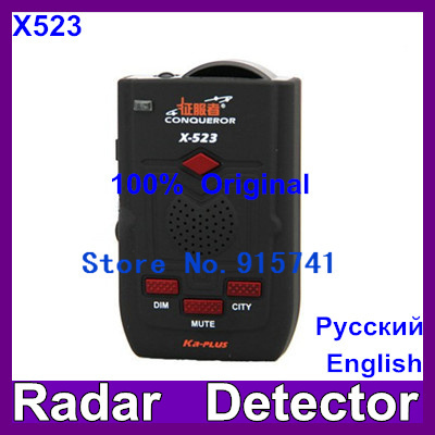 2014 Newest Conqueror x523 Super Advanced Car Radar Detector with Russian voice update of x323 KA-PLUS and super signal x-523