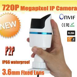 1.0 Megapixel HD Network Mini IR-Bullet Camera 2pcs buy one time more discount for u(China (Mainland))