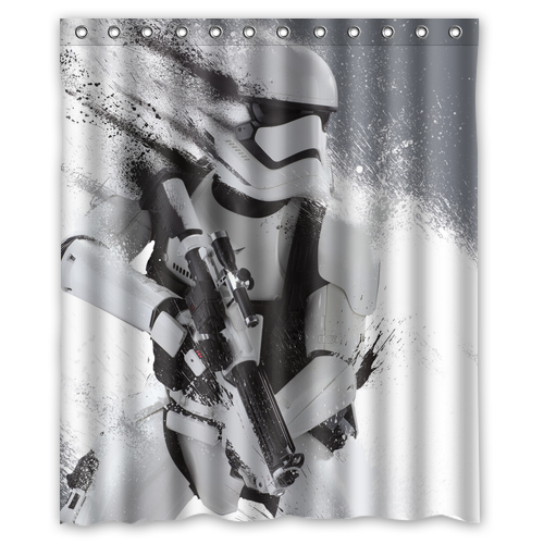 Star Wars Stormtrooper Custom Designer Fabric Curtain Bathroom Product Waterproof Shower Curtains 48x72, 60x72, 66x72 inches - Seven-rainbow Trading Company store