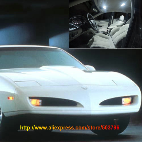 free shipping 10pcs lot white 12 volt interior car led lights for pontiac pontiac firebird. Black Bedroom Furniture Sets. Home Design Ideas
