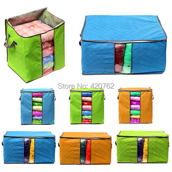 Free Shipping Foldable Clothes Pillow Blanket Closet Underbed Storage Bag Organizer Box Bags(China (Mainland))