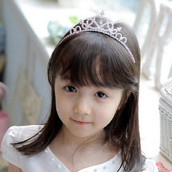 Infant Toddler Crown Pearl Headband Baby Girls Princess Crystal Pearl Crown Diamond Hairband Headwear Kid Hair Band Accessories