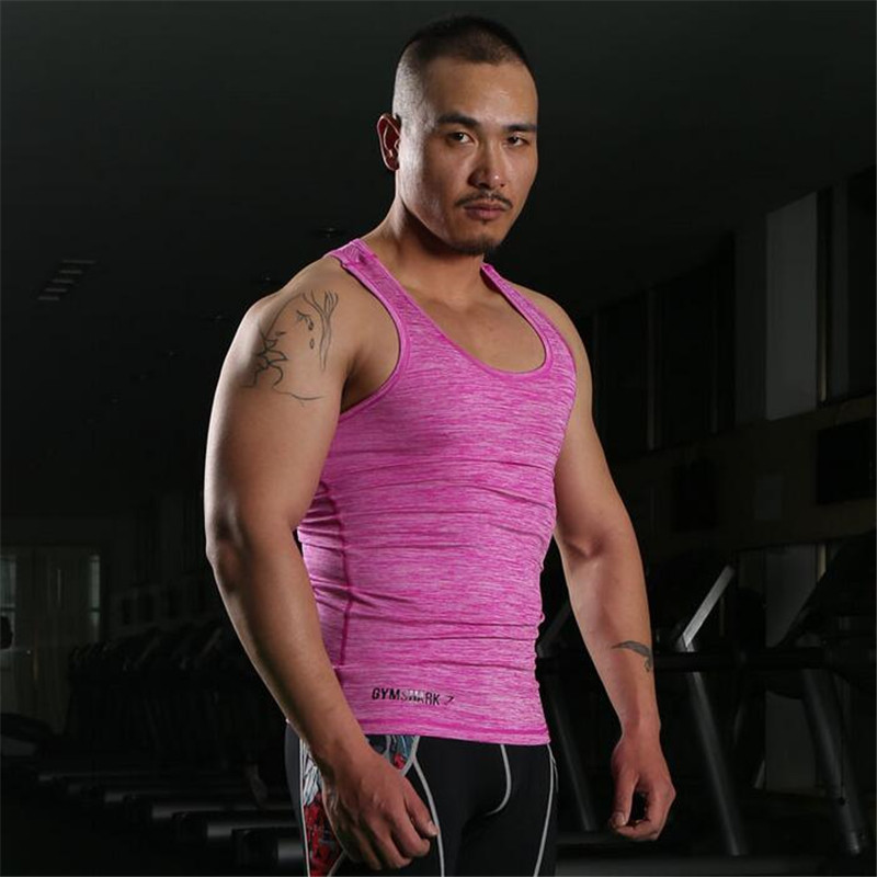 2016 New Arrival Fashion Gym Fitness Bodybuilding Wear Men's Muscle Tank Tops Loose Professional Sports Vest(China (Mainland))