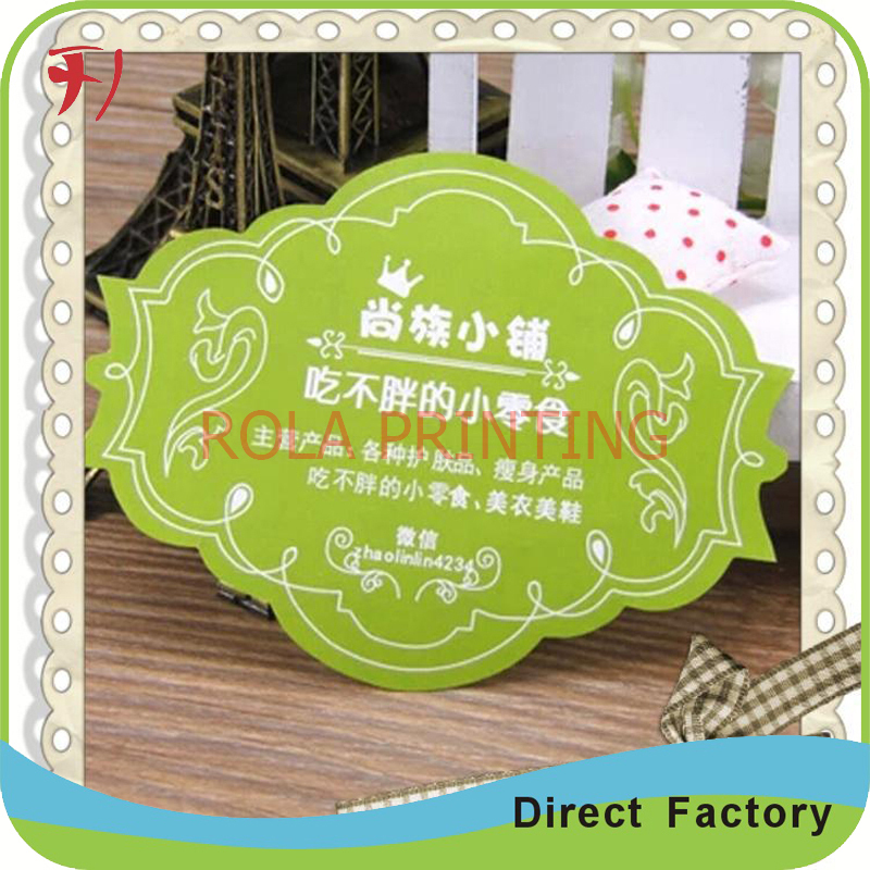 Customized both sides printed adhesive stickers(China (Mainland))