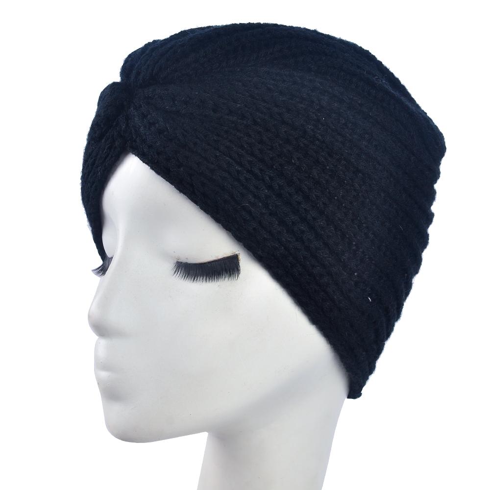Free Shipping 2016 New Fashion Ladies Accessory Winter Warm Turban Soft Knit Headband Beanie Crochet Headwrap Women Hat Cap(China (Mainland))