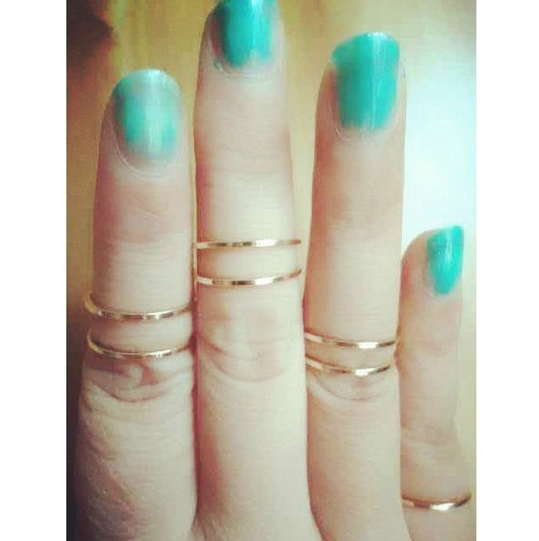 Free shipping~Fashion Gold or Silver Above Knuckle -Thin Stackable Rings 100pcs/lot