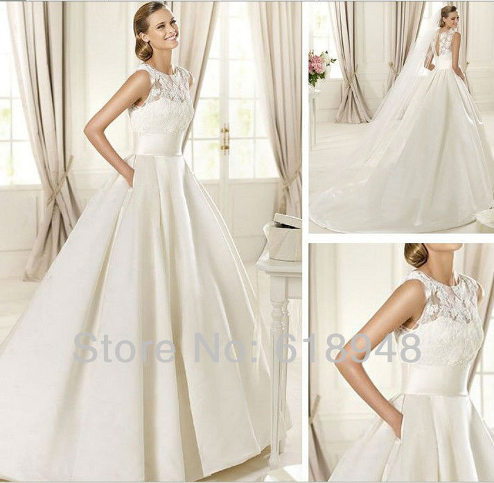 2013 free shipping custom made latest designer backless for Backless satin wedding dress