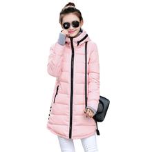 Women's Cotton-Padded Jacket 2015 Winter Medium-Long Down Cotton Plus Size Jacket Female Slim Ladies Jackets and Coats TBK013