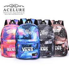 HOT-SELLING  schoolbag style Youth Trend schoolbag 2015 ladies female man shoulder bag backpack VANS Escolar bolsas mochila(China (Mainland))