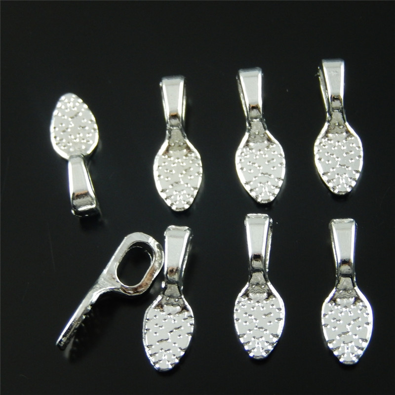 60PCS Vintage Style Matte Silver Tone Bail Jewelry Accessories 8*5*2mm 33631(China (Mainland))