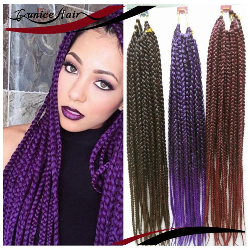 Box Braids Hair Pre twisted All Color BOX Braids Extensions Crochet ...