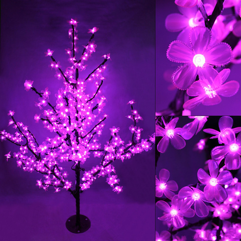 Handmade Artificial LED Cherry Blossom Tree night Light New year Christmas wedding Decoration Lights 150cm 180cm LED tree light(China (Mainland))