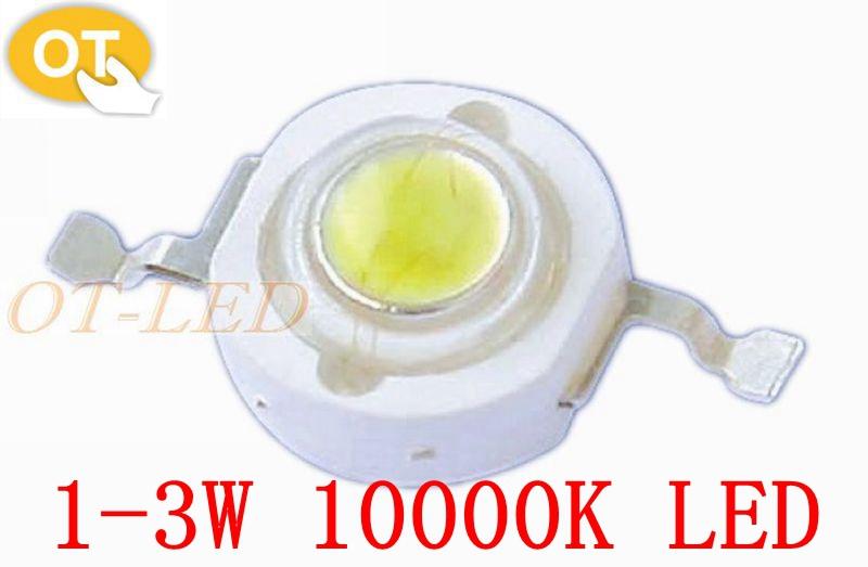 Freeshipping!100PCS/LOT 3W LED Chip Cool White 10000K High Power Led chip for fishing tank/DIY/Bulb/spot light.<br><br>Aliexpress