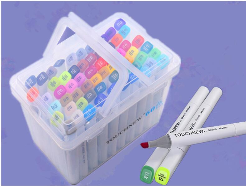 Comics Art Marker Pens 168 Color Finecolour Oily Double Headed Permanent Colour Set For Designers Drawing Copic Marker(China (Mainland))
