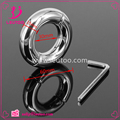 Stainless steel Penis Cock Ring Glans Penis Stretch Sex Ring Ball Stretcher Sex Toys for Men