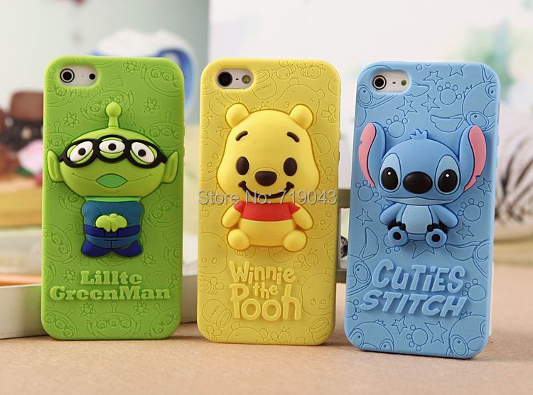 Stich Case 3D Cute Silicone Cover iPhone 6 4.7 inch Cases, Fashion Stitch Back Housing iPhone6 Plus , - March_e-store store