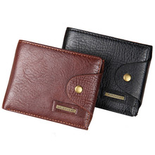 Quality Hasp Style Men Wallets Cross Vertical PU Leather Coin Pocket Black Brown Credit Card Holder Purse Wallet - Lucky In The Store store