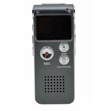 50pcs 2016 Professional 8GB Digital Voice Recorder Mini Dictaphone MP3 Player Audio Recorder WAV MP3 Format Gravador de voz(China (Mainland))