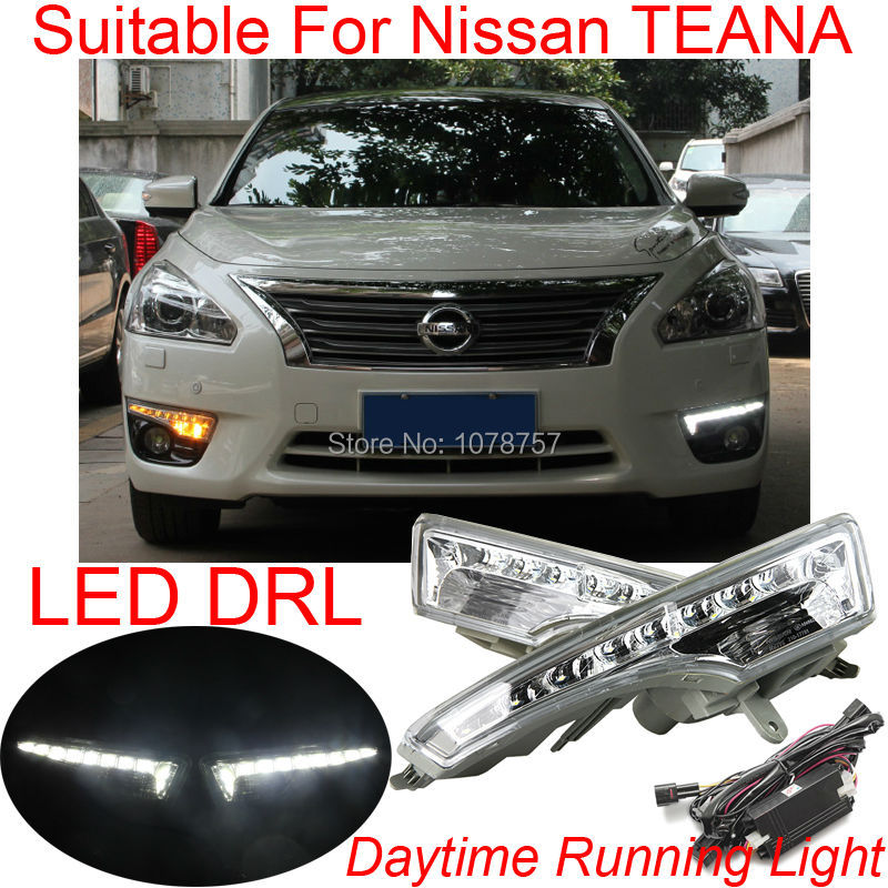 Fangs Style Bright Car Specific LED DRL Daytime Running Lights With Amber Turn Lights Suitable For Nissan TEANA Altima 2013-2015<br>