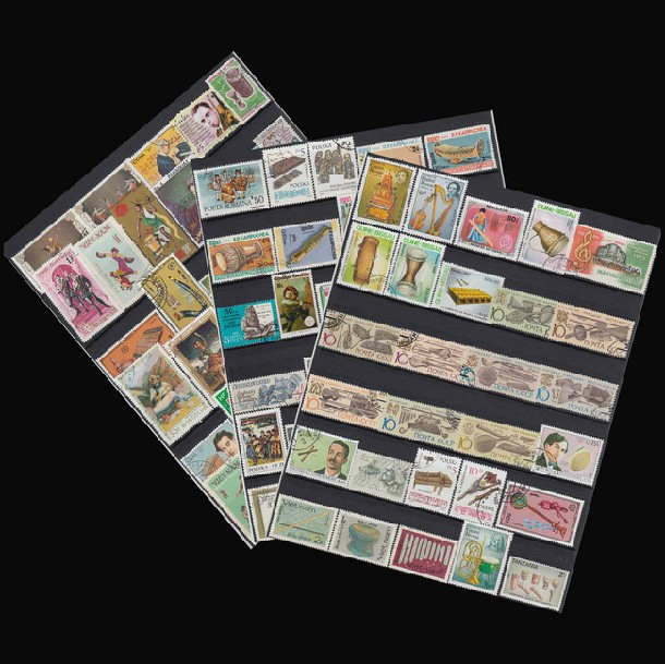 No repeat! 100 pieces/bag musical instruments postage stamp pianist stamp postage, piano postage stamp collections RARE unusual(China (Mainland))