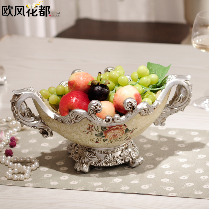 European style of the ancient large fruit plate decoration upscale dining room table dry fruit of modern decoration(China (Mainland))