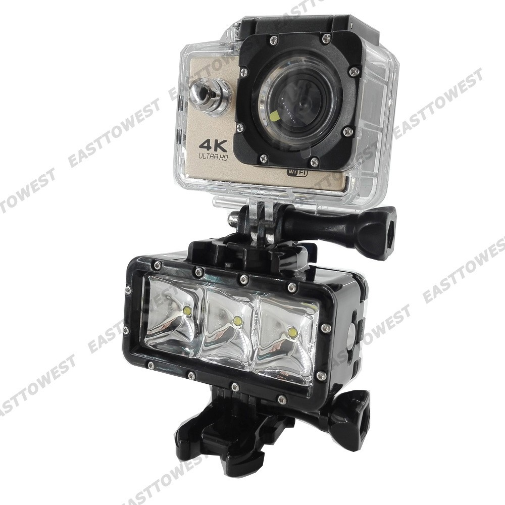 30m Diving Waterproof LED Video Flash Fill Light For GoPro 4 3+ Xiaomi Yi Sj4000 Sj5000 Sj7000