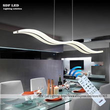 Wow NEW Dimmable Modern LED Chandeliers for dinning room bedroom studyroom chandelier lights 110V 220V lampadario with control(China (Mainland))