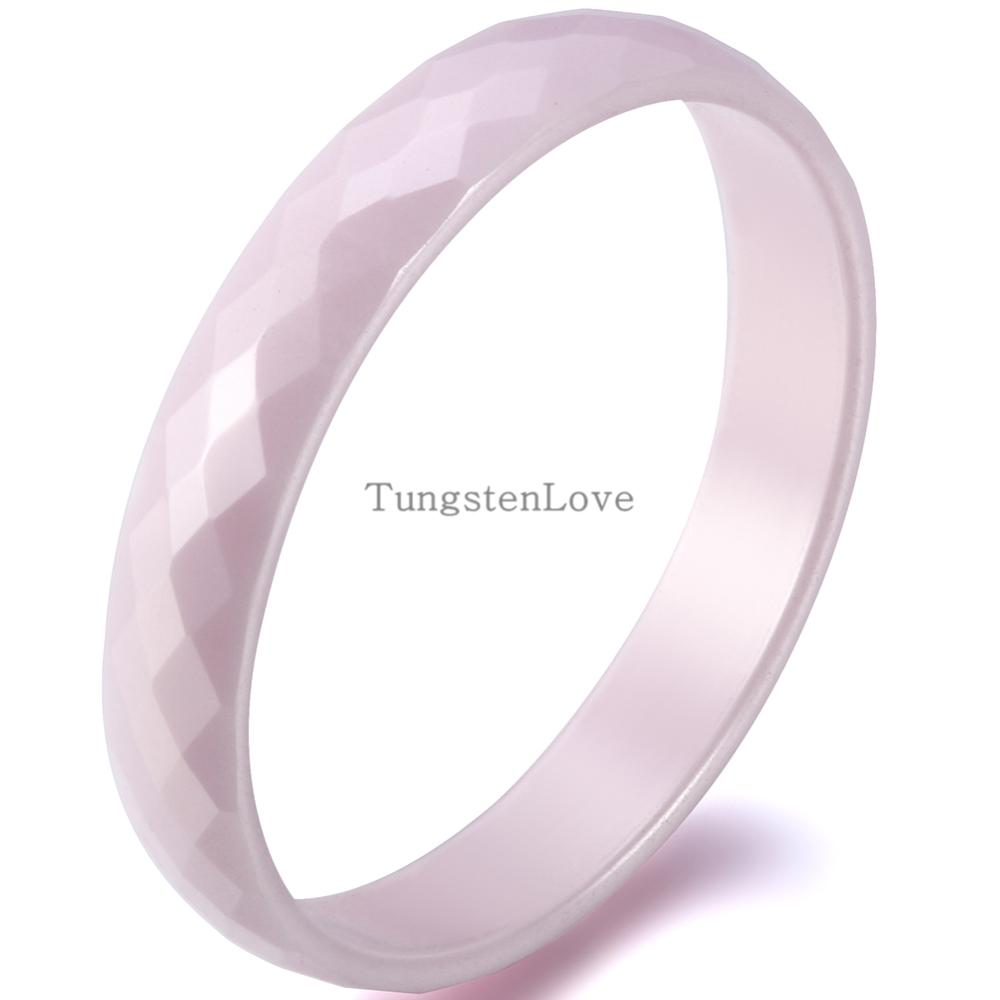 2015 new 3 5mm comfort fit pink ceramic ring for