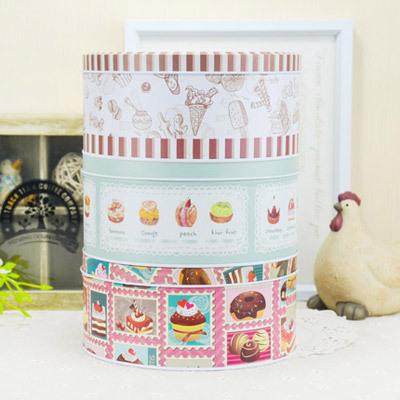 5pcs/lot Wholesale Kawaii Cartoon Baked Cake Sweet Box Ornament Pencil Tin Case(China (Mainland))
