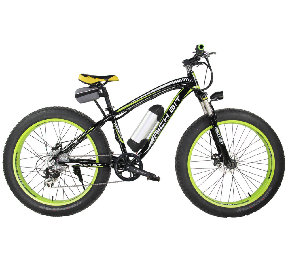 TP12 36V* 350 WATT LITHIUM BATTERY ELECTRIC MOUNTAIN BICYCLE SHIMAN0 7 SPEED ELECTRIC BIKE Black and Green(China (Mainland))