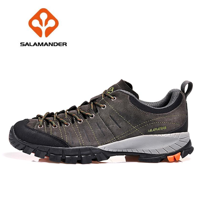 SALAMANDER Top Quality Mens Sports Hiking Shoes Sneakers For Men Leather Climbing Mountain Trekking Shoes Man Senderismo<br><br>Aliexpress