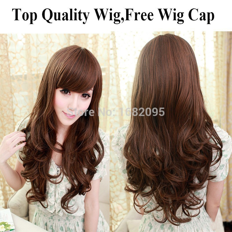 """2016 Top Fashion Ombre Wig 28"""" 1pc Free Shipping New Synthetic Hair Wigs Long Curly Big Wave Color For Women Edt Spray Harajuku(China (Mainland))"""