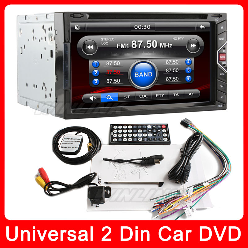 "Car Video player 6.9"" Gesture Control universal 2 two Din In Dash Car DVD Radio stereo HD digital touch screen+Free Camera(China (Mainland))"