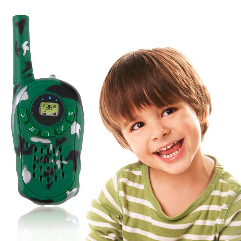 2016 2Pcs Walkie Talkie Children Kids Electronic Toys Portable Two-Way Radio Set Hot Selling walkie talkie juguete(China (Mainland))